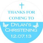 Personalised Boy Christening Sticker Design 10